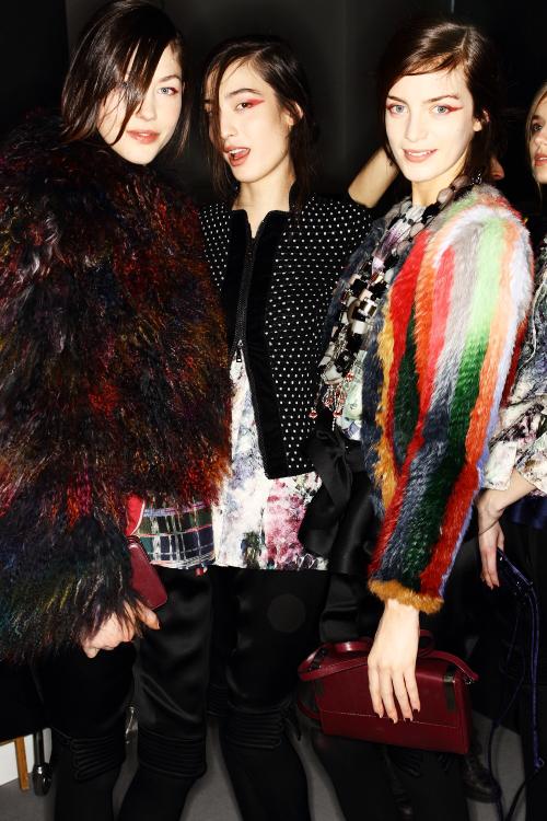 Emporio Armani  AW12 Fashion Show Milan Backstage