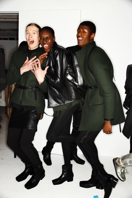 Rad Hourani AW12 Fashion Show New York Backstage