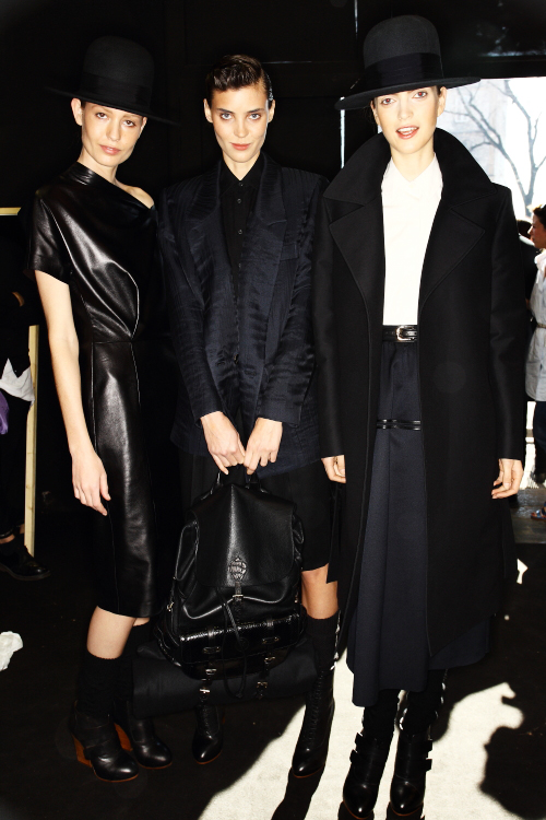 Trussardi AW12 Fashion Show Milan Backstage