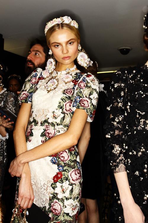 Dolce & Gabbana AW12 Fashion Show Milan Backstage