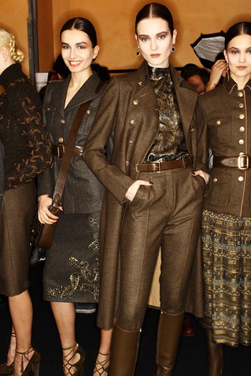 Salvatore Ferragamo AW12 Fashion Show Milan Backstage