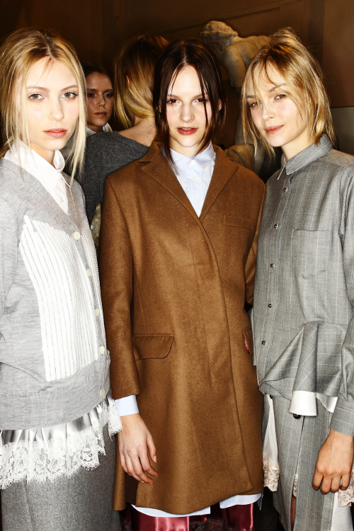 Sacai AW12 Fashion Show Paris Backstage