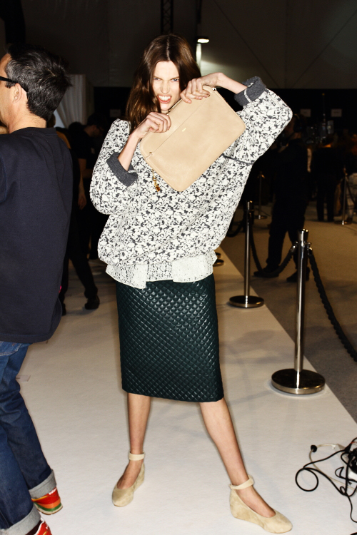 Chloe AW12 Fashion Show Paris Backstage