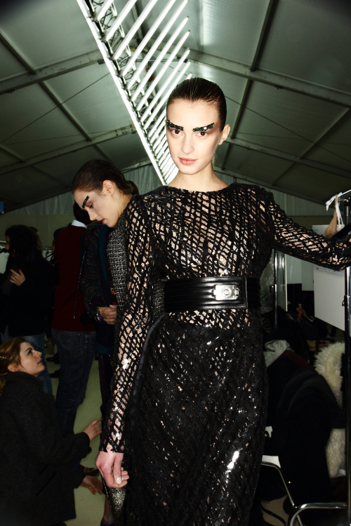 Chanel AW12 Fashion Show Backstage