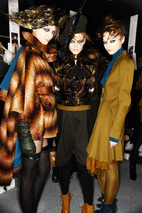 Galliano AW12 Fashion Show Paris Backstage