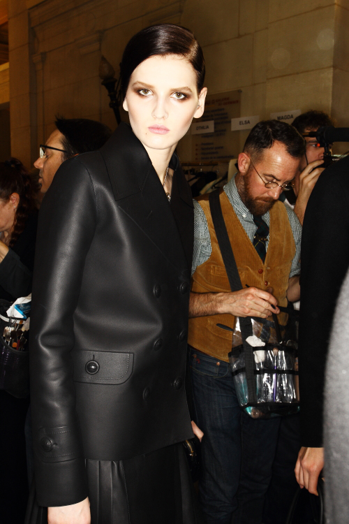 Loewe AW12 Fashion Show Paris Backstage