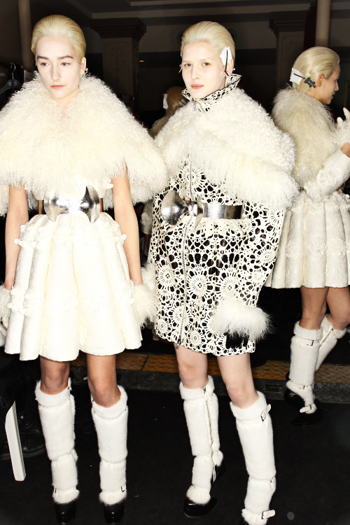 McQueen AW12 Fashion Show Paris Backstage