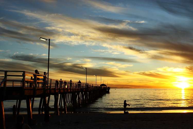 Spectacular Sunset at Henley Jetty, Adelaide, South Australia