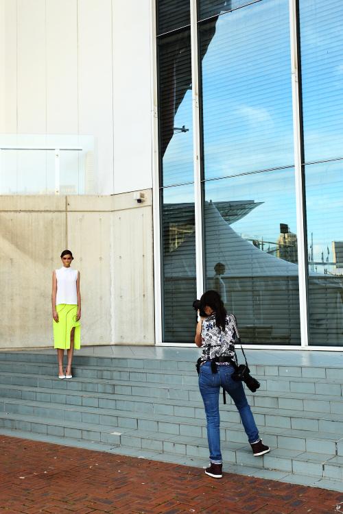 Magdalena Velevska SS12-13 Fashion Show Sydney Backstage