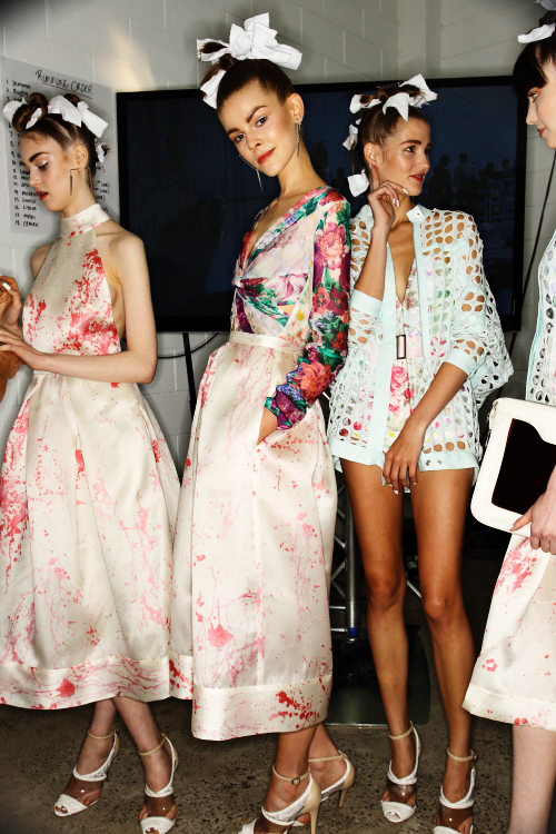 Zimmermann SS12-13 Fashion Show Sydney Backstage