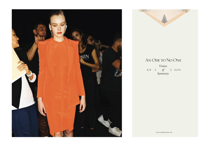 An Ode To No One SS12-13 Campaign Photos