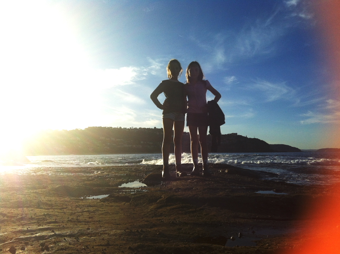 Afternoon walk with the girls at Whale Beach