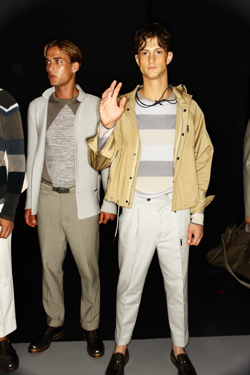 Emporio Armani SS13 Men Fashion Show Milan Backstage