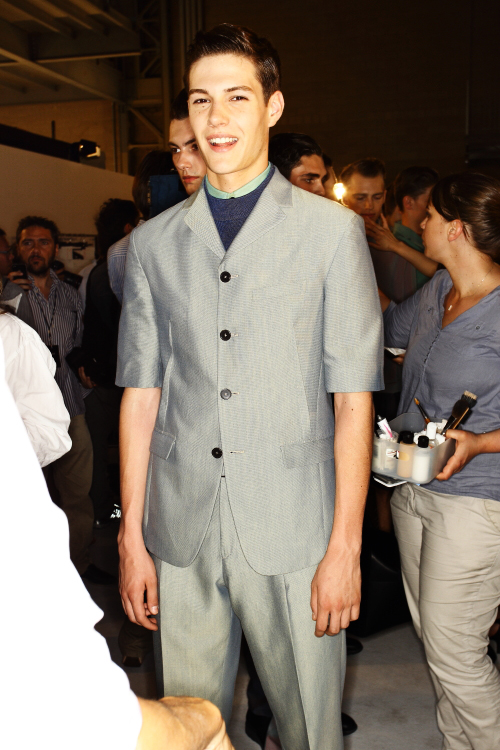 ZZegna SS13 Men Fashion Show Milan Backstage