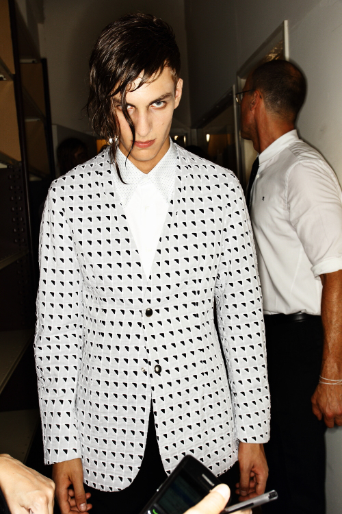 Raf Simons SS13 Men Fashion Show Paris Backstage
