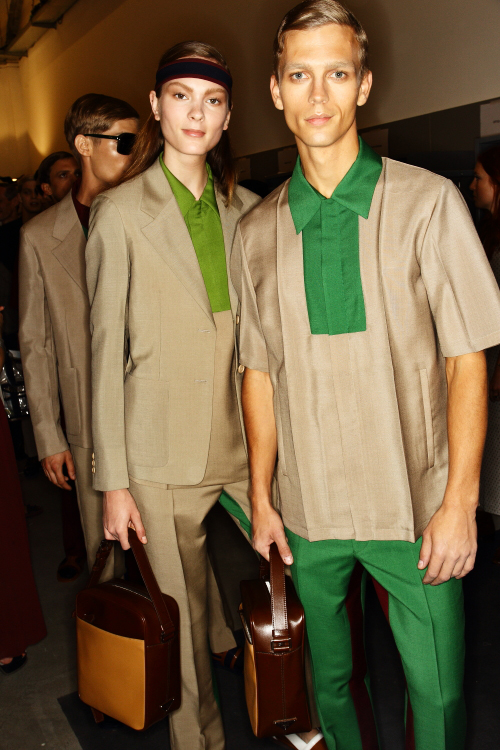 Prada SS13 Men Fashion Show Milan Backstage