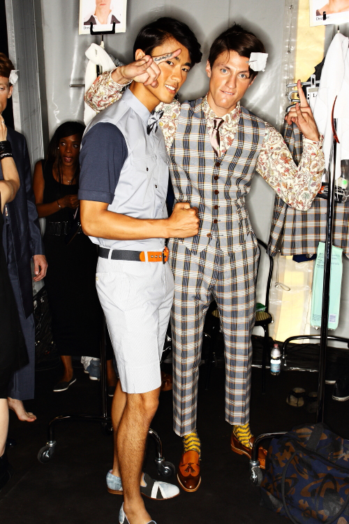 Vivienne Westwood SS13 Men Fashion Show Milan Backstage