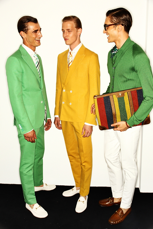 GUCCI SS13 Men Fashion Show Milan Backstage