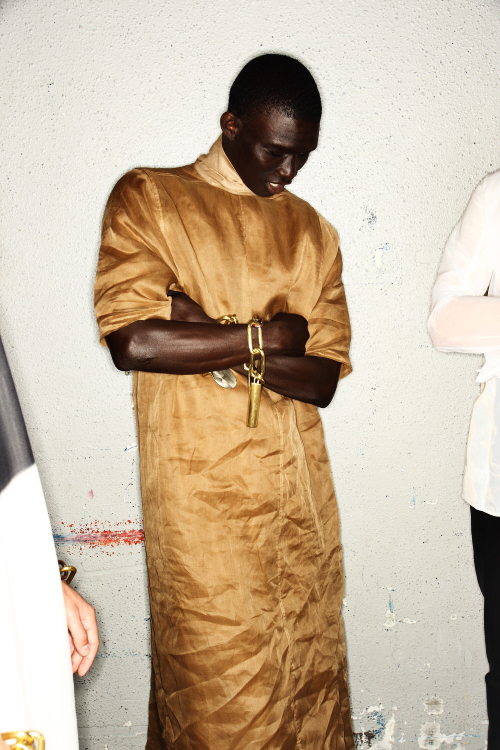 Rick Owens SS13 Men Fashion Show Paris Backstage