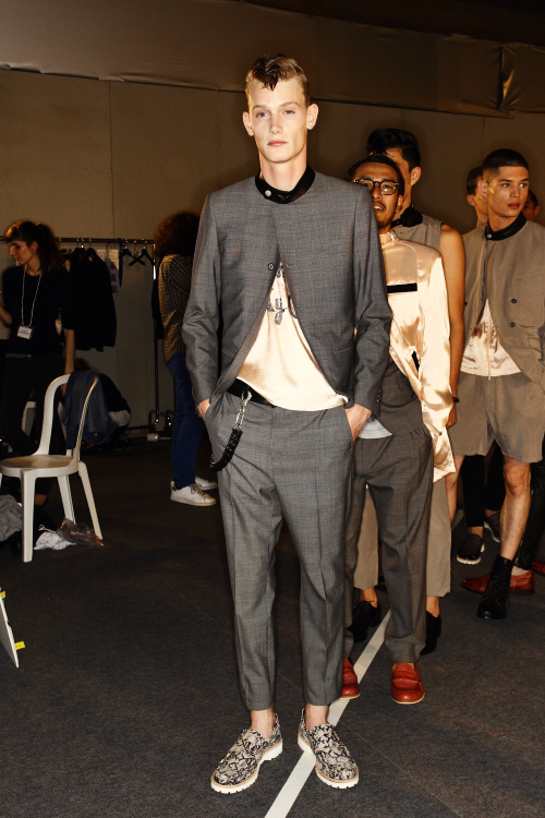 Miharayasuhiro SS13 Men Fashion Show Paris Backstage