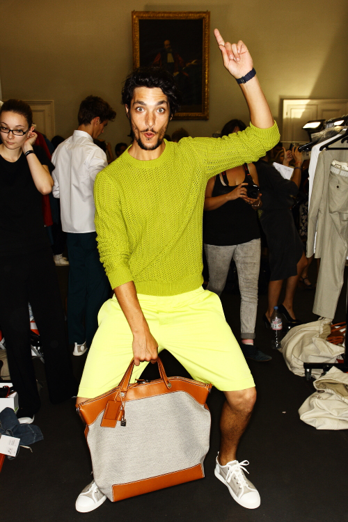 Hermes SS13 Men Fashion Show Paris Backstage