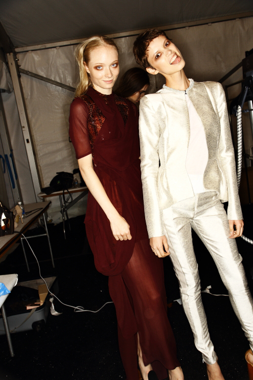 Kym Ellery SS13 Presentation New York Backstage