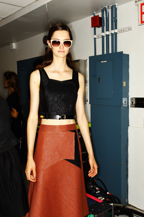 Derek Lam SS13 Fashion Show New York Backstage