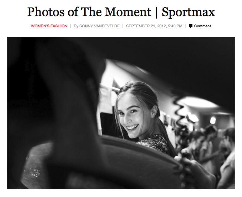 My New York Times coverage of Sportmax