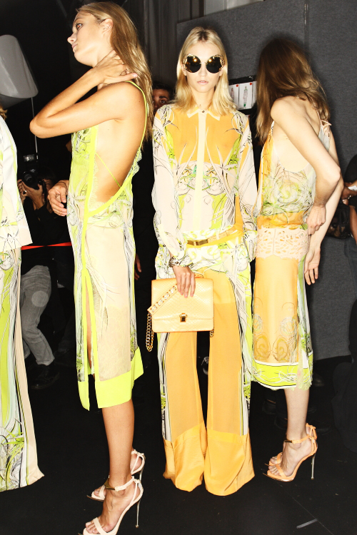 Roberto Cavalli SS13 Fashion Show Milan Backstage