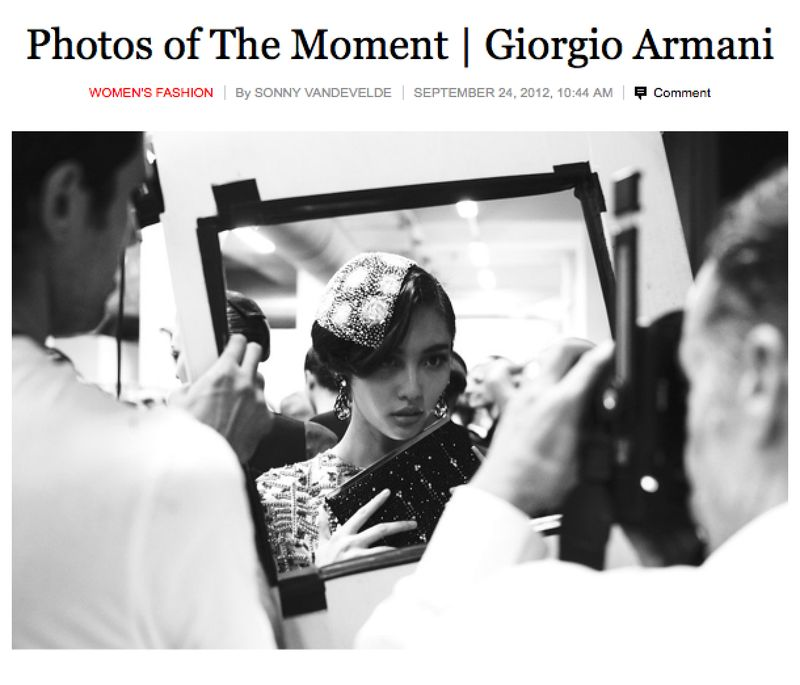 My New York Times coverage of Giorgio Armani