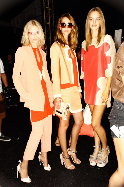 Diane Von Furstenberg SS13 Fashion New York Backstage