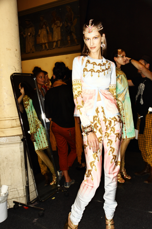 Manish Arora SS13 Fashion Show Paris Backstage