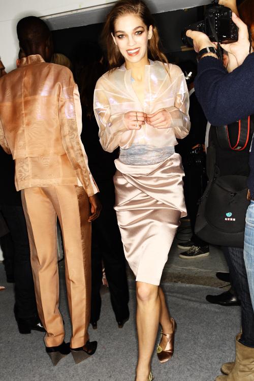 Anne Valerie Hash SS13 Fashion Show Paris Backstage