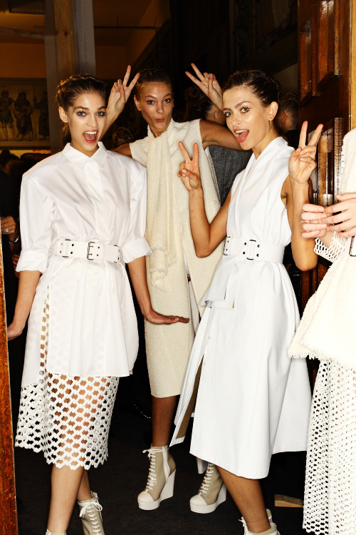 Veronique Leroy SS13 Fashion Show Paris Backstage