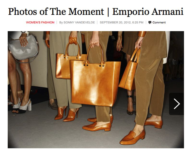 My New York Times coverage of Emporio Armani