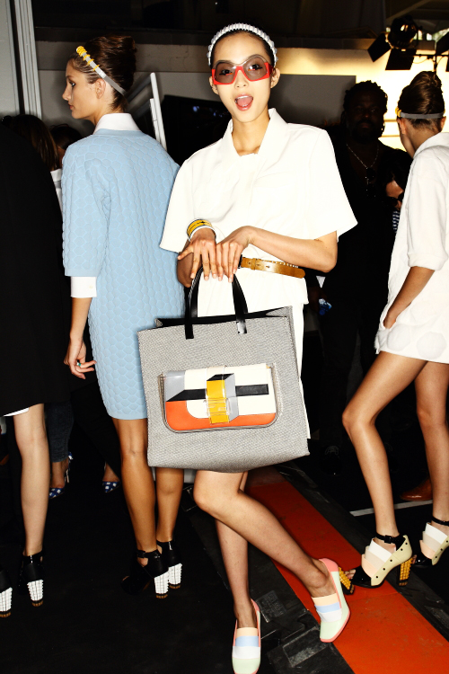 Fendi SS13 Fashion Show Milan Backstage