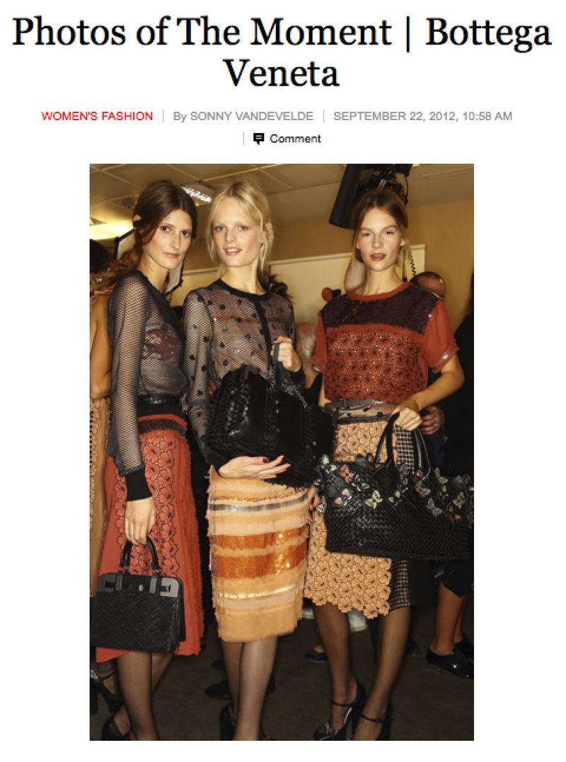 My New York Times coverage of Bottega Veneta