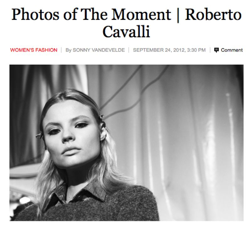 My New York Times coverage of Roberto Cavalli