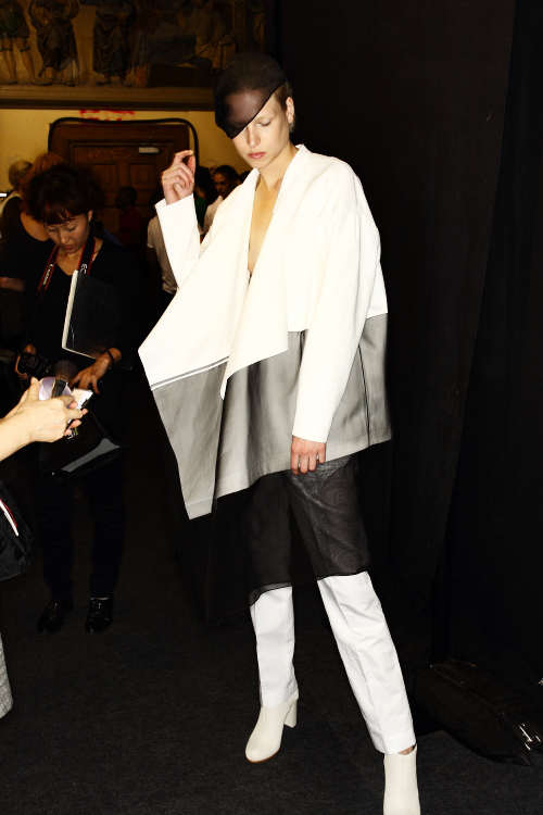 Lutz SS13 Fashion Show Paris Backstage