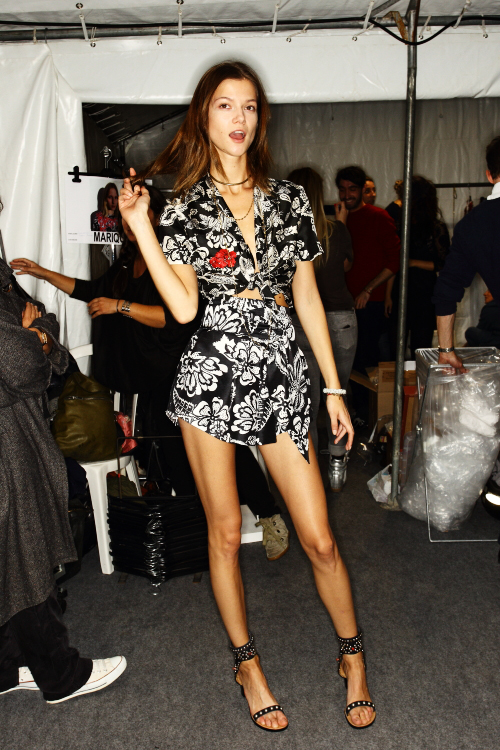 Isabel Marant SS13 Fashion Show Paris Backstage