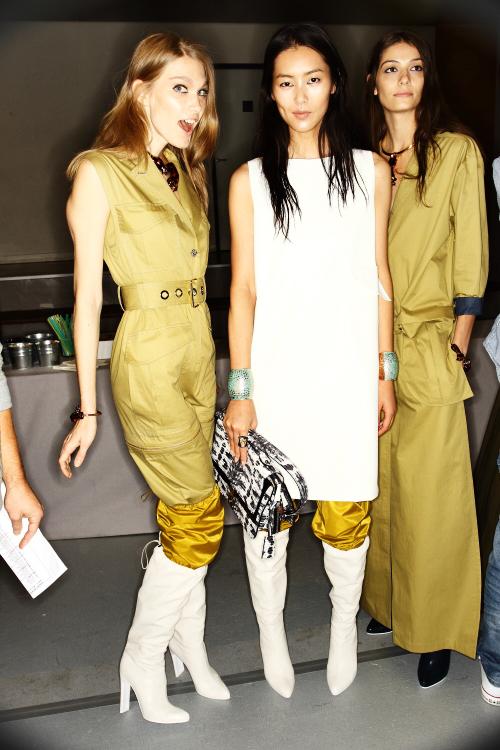 Kenzo SS13 Fashion Show Paris Backstage