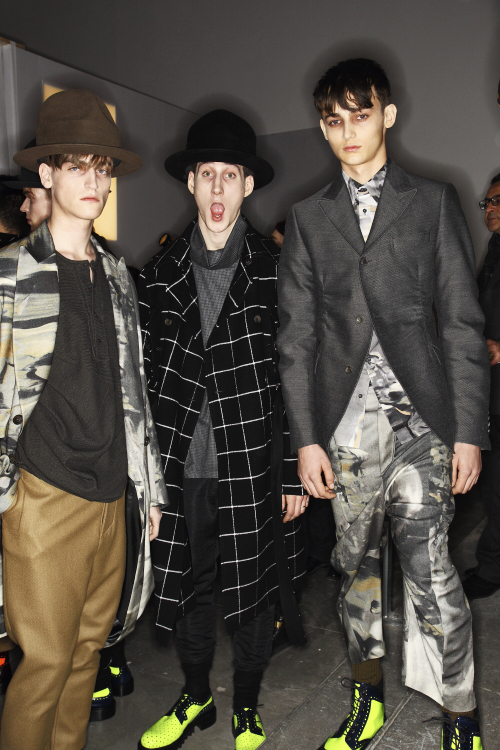 Galliano AW13/14 Men Fashion Show Paris Backstage