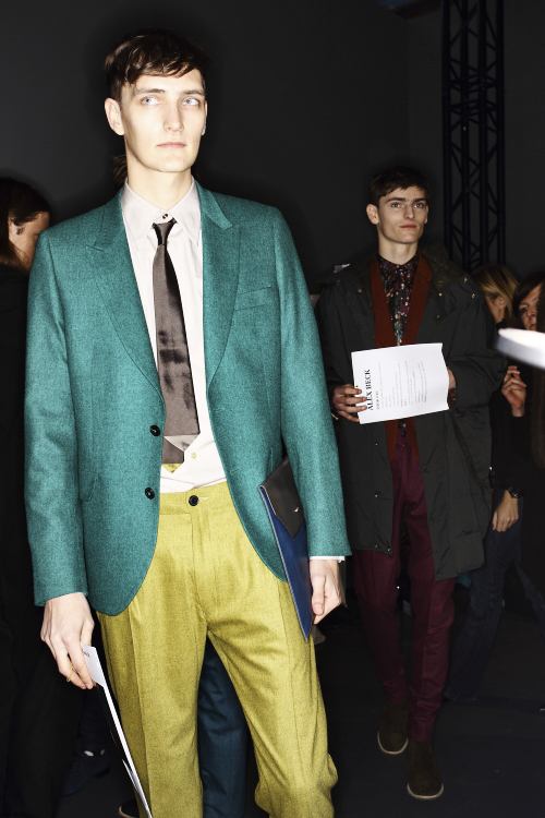 Paul Smith AW13/14 Men Fashion Show Paris Backstage