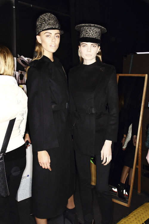 Dagmar AW13/14 Fashion Show Stockholm Backstage