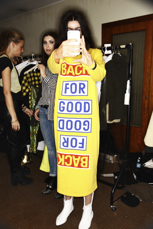 BACK AW13/14 Fashion Show Stockholm Backstage