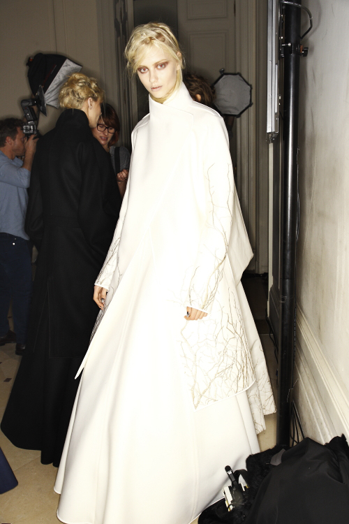 Gareth Pugh AW13/14 Fashion Show Paris Backstage