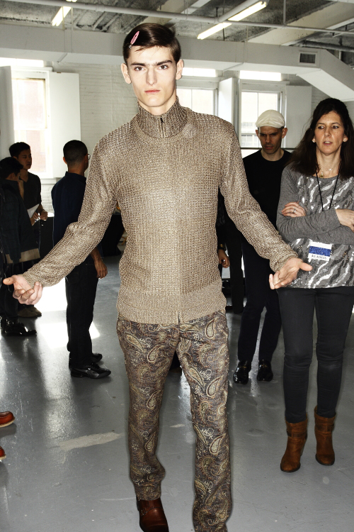 Perry Ellis by Duckie Brown AW13/14 Men Fashion Show New York Backstage