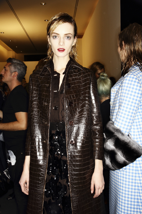 Prada AW13/14 Fashion Show Milan Backstage
