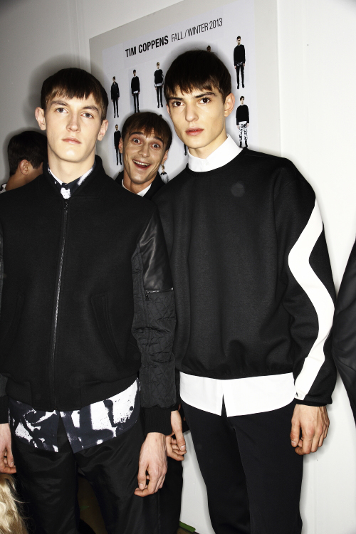 Tim Coppens AW13/14 Men Fashion Show New York Backstage