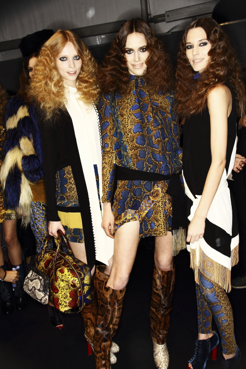 Just Cavalli AW13/14 Fashion Show Milan Backstage